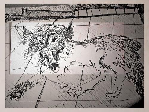 un perro ahí tirado