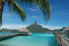 Mt. Otemanu (kelly-bell) Tags: travel blue vacation mountain beach landscape island honeymoon view southpacific borabora lemeridien bungalows frenchpolynesia overwater otemanu mtotemanu