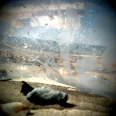 Through the plastic (Claire_Sambrook) Tags: sea beach apple look see bottle stones pebbles hampshire plastic portsmouth helga range camerabag apps obscure iphone plasticbottle eastney clairesambrook welshphotographer createup clairesambrookphotographer