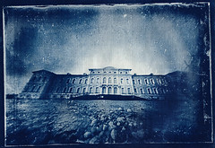 The palace (batuda) Tags: architecture watercolor latvia pinhole d76 6x9 baroque cyanotype cardboardbox digitalnegative altprocess glassplate contactprinting rundale lasertransparency