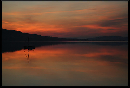 sea sun water silhouette clouds sunrise reflections landscape scotland clyde yacht argyll isle bute rothesay