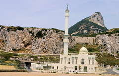 Point Europa Mosk In Gibraltar (cwgoodroe) Tags: ocean uk england costa sun lighthouse london castle sol beach beer del square airplane colorful europe wind gib military mosque bobby zane pint gibraltar runway policestation fishandchips territory instalation gibralter moneky fedra europapoint airtower angryfriar 3sheets zanelampry corgovesselsummer vesselcollision