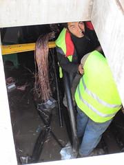 View inside manhole