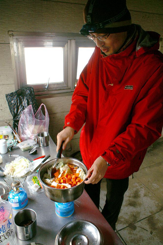 南湖大山day3-155 做晚餐