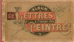 album n2 peintre lettres 0