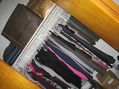 my closet (_melika_) Tags: closet moving apartment move clothes movingday inglewood awayfromhome livingwithboyfriend