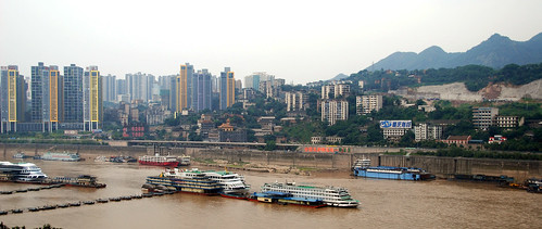 view from my aunt's apartment, chongqing