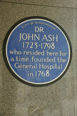 Photo of John Ash blue plaque