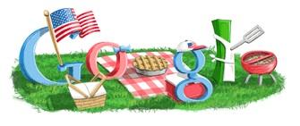 Google 4th Of July Logo 2009