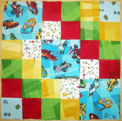 Roxanne's Sew Kid at Heart Bee Block August