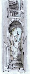 20070819 Korcula (Maarten Ruijters) Tags: street bridge sketch drawing croatia korcula townscape pencildrawing maartenruijters