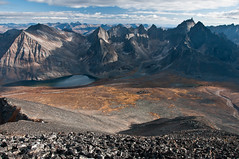 View From Mt. Frank Rae in Tombstone Territorial Park, Yukon (Marc Shandro) Tags: canada nature solitude view outdoor tranquility yukon alpine backcountry jagged remote wilderness sunlit untouched viewpoint idyllic uninhabited tundra rugged pristine environments unspoiled expanse geological subarctic mountainous magnificence grandness tombstoneterritorialpark