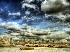 The river Thames in HDR