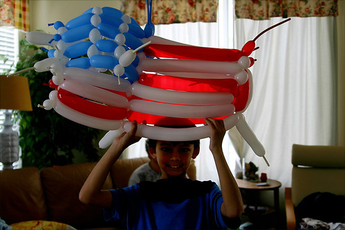 Little Man's balloon art for Memorial Day