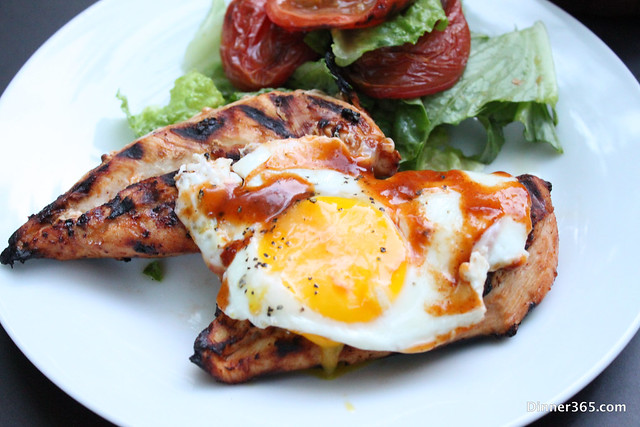 Day 153 - Barbecue Chicken and eggs