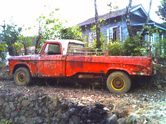 Sagada Pick Up (Raph Cocson) Tags: old red mountain up truck vintage philippines pick sagada province