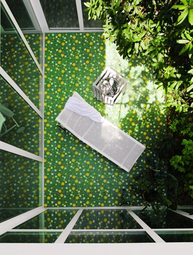 Mosaic Tile Patio Design