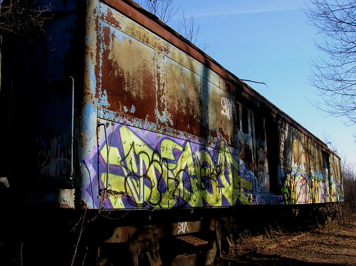 train graffiti side lambertville