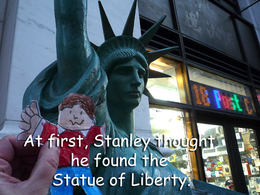 Stanley and the Statue of Liberty