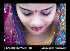 The Bride (Raminder Pal Singh) Tags: blue portrait woman india girl smile lady bride necklace eyes eyelashes dress magenta shy jewellery 1d lookingdown eyebrows bindi indianwedding attire weddingphotography bridalwear nicesmile shysmile canon1d indianportrait indianbride chunni bridalattire brideportrait chunri mutiyar portraitofabride raminderpalsingh dressedupgirl punjabiwoman shyeyes punjabikudi memorycornerportraits dressedupbride indianbridalwear raminderphotography flickrbride brideonflickr punjabilady punjabicostumes