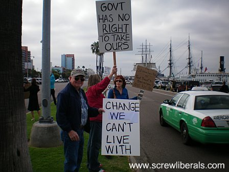 tea party, san diego,change we can't