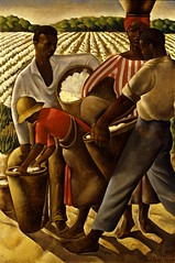 Earle Richardson: Employment of Negroes in Agriculture, 1934 (americanartmuseum) Tags: plant painting landscape paint employment farm canvas fabric cotton oil africanamerican agriculture ethnic 1934 harvesting newdeal occupation figuregroup smithsonianamericanartmuseum publicworksofartproject earlerichardson