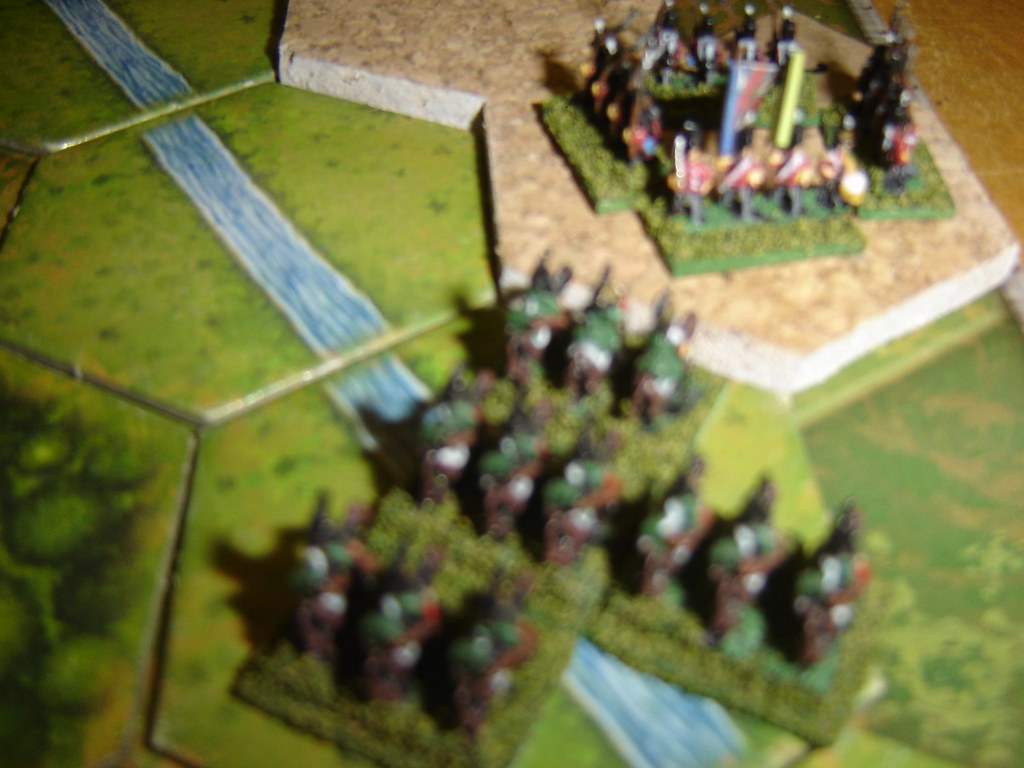 French hussars  English advance guard into square