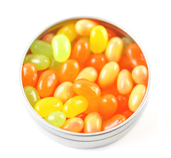 Jelly Belly Sunkist Citrus Mix Tin Open