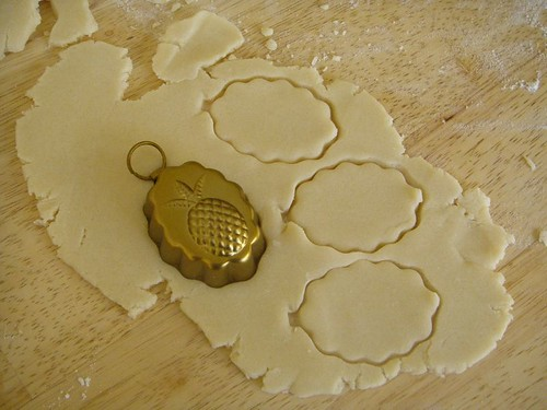 cutting shortbread