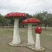Bill Davenport Amanita Mushroom Sculpture 2009 Texas Biennial
