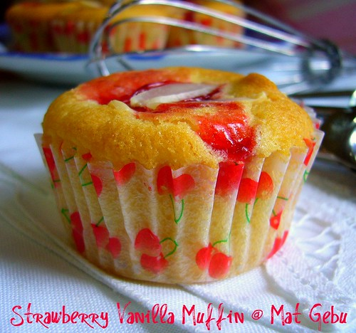 Strawberry Vanilla Muffin