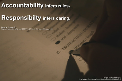 Accountability vs. Responsibility by shareski, on Flickr
