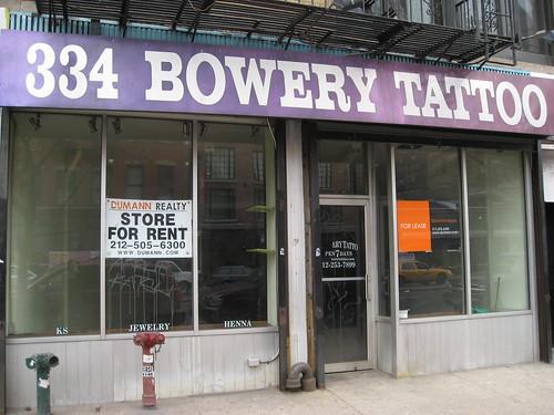 334 Bowery Tattoo
