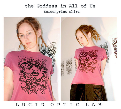 Goddess in All of Us screen print shirt by Lucid Optic Lab