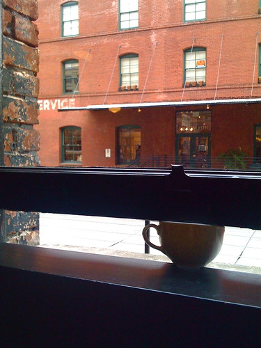 Cup in the window at Barista