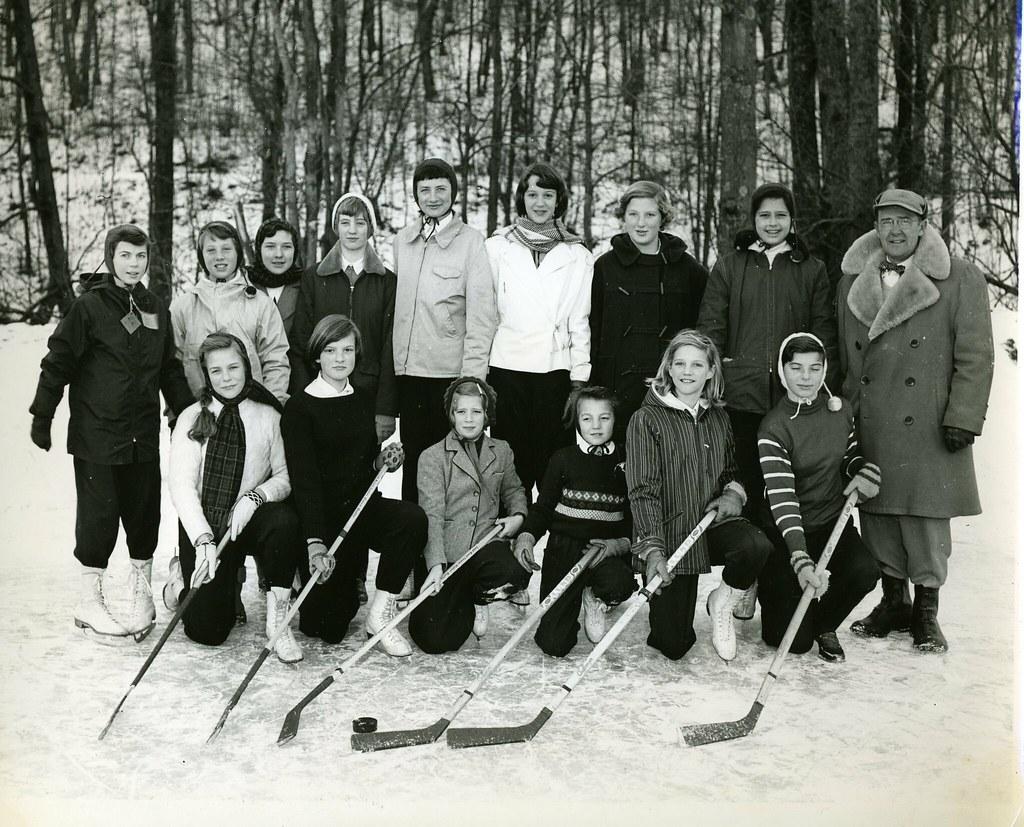 Girl's Hockey Team ~ 1956
