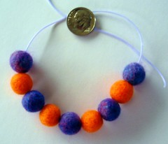 Handfelted beads for Blythe.