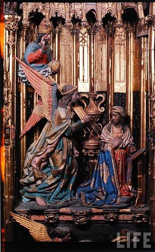 Detalle del altar mayor de la Catedral de Toledo en 1963. Fotografía de Dmitri Kessel. Revista Life (7)