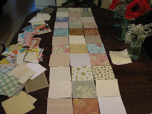 picking out fabrics