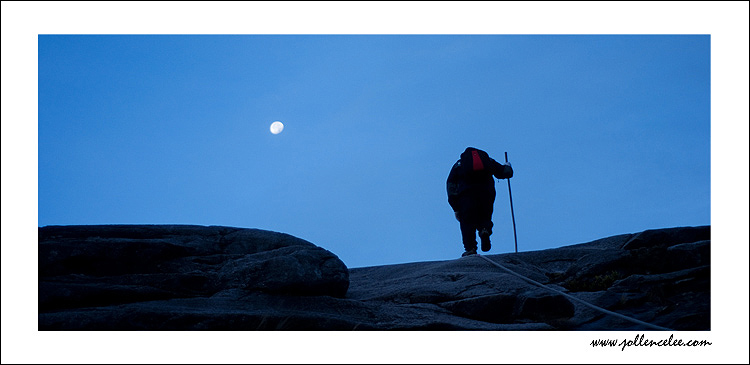 Climbing under moon lite