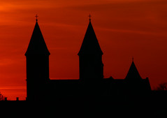 Sunset over Cathedral of Viborg/Sonedgang over Viborg Domkirke 9 (klauzito) Tags: church kirke domkirke viborg cathdral