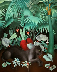 Black Panther (cliff1066) Tags: black animal painting landscape paint canvas fabric oil tropic panther 1934 blackpanther newdeal saam dinneen publicworksofart alicedinneen newdealforartists picturingthe1930s