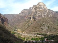 Temoris station & railway bridge (itinerantlondoner) Tags: chihuahua mexico railway canyon chepe barrancasdelcobre coppercanyon temoris coppercanyonrailway