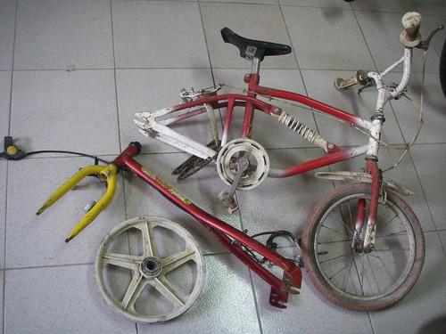Restos mortais de bicicletas