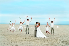 ... (~mirka~) Tags: ocean new wedding light party portrait sky love beach water burlington fun photography groom bride newjersey high jump sand kiss photographer natural south location portraiture jersey bridal onlocation weddingphotographer