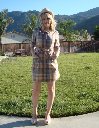plaid and wedges