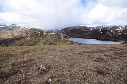 Glas Tulaichean left and Loch nan Uen