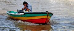 (enelrioesmejor) Tags: man argentina rio river boat nikon delta tigre hombre bote d40x