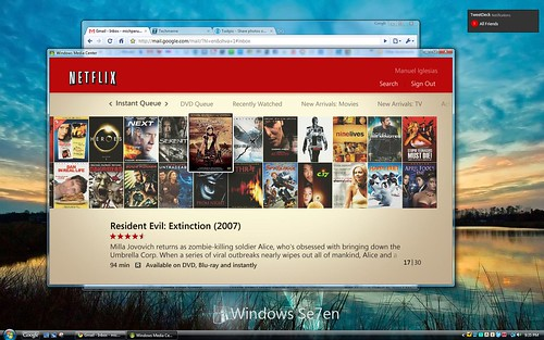 Netflix en Windows Media Center