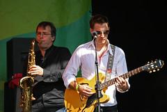 Guitar and Sax (PeteZab) Tags: nottingham uk england music concert guitar gig 2009 citypulse manfredmann manfreds marcuscliffe simoncurrie petezab